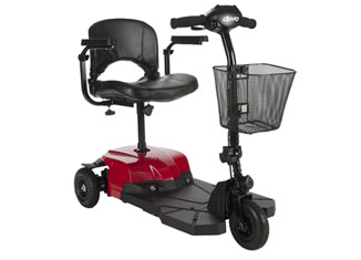 Drive Medical Red Bobcat X3 3 Wheel Compact Transportable Scooter