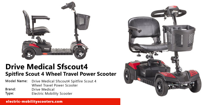 Drive Medical Sfscout4 Spitfire Scout 4 Wheel Travel Power Scooter Review