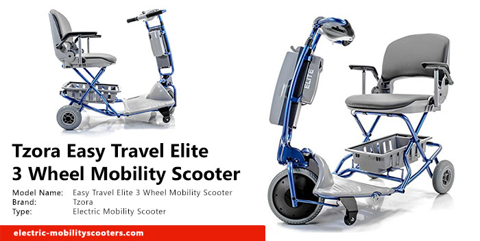 Tzora Easy Travel Elite 3 Wheel Mobility Scooter Review