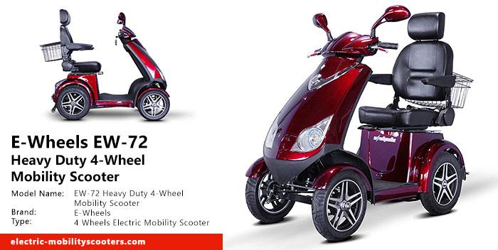 E-Wheels EW-72 Heavy Duty 4-Wheel Mobility Scooter Review